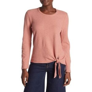 NWT Madewell Rosewood Pink Soundcheck Side-Tie Tee